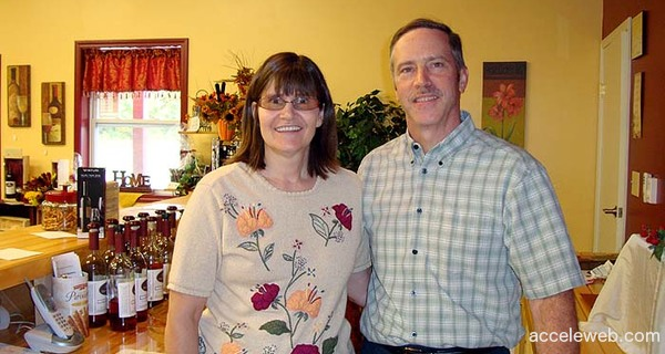 Deer Creek Winery Owners, Denis & Rhonda Brooks